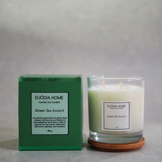 Green Tea Accord Soy Scented Candles 200 g