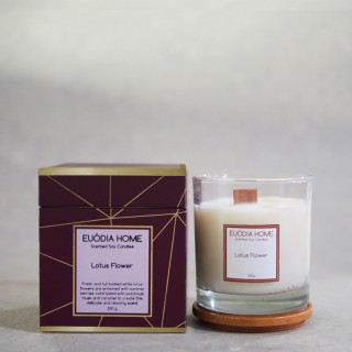 Lotus Flower Soy Scented Candles 200 g