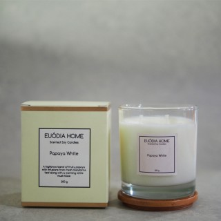 Papaya White Soy Scented Candles 200 g